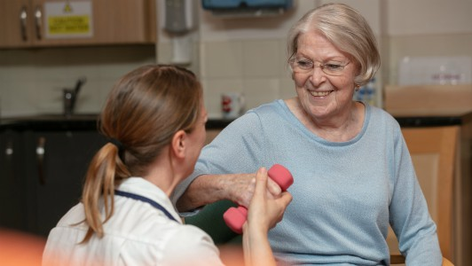 Day Hospice physiotherapy patient