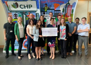 Race4Business cheque presentation