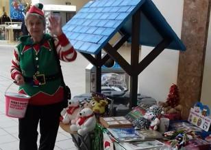 Elf at fundraising event