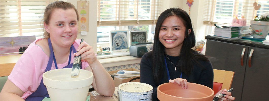 Young ambassadors in Day Hospice