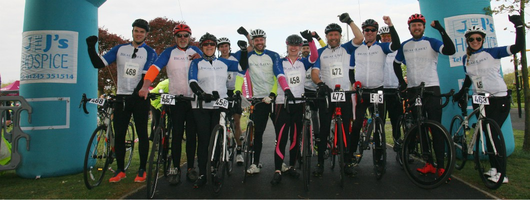 Team Beaulieu at the start line during last year's event