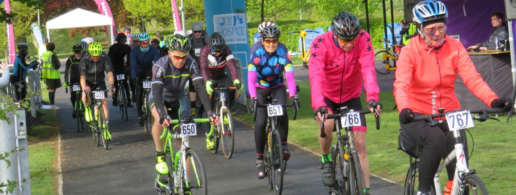 Cyclists taking part in the Pedal for The J's 2019