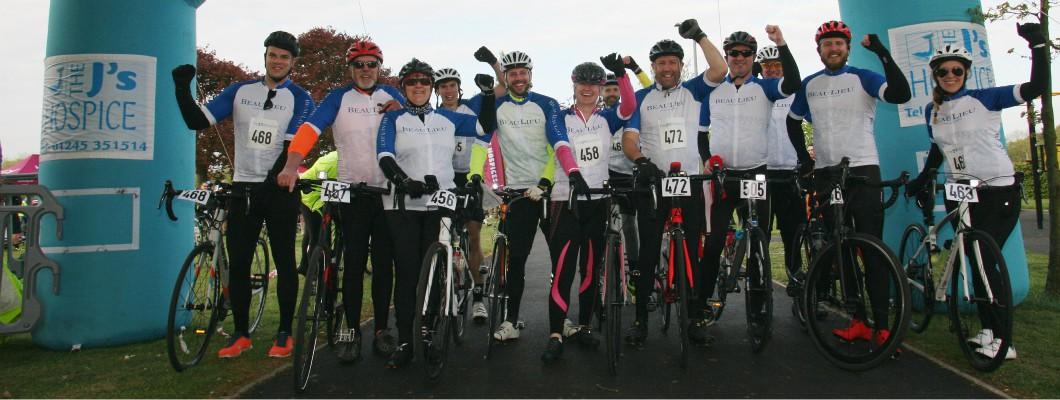 Team Beaulieu at the start line