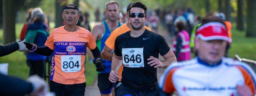 Chelmsford Marathon runners on route