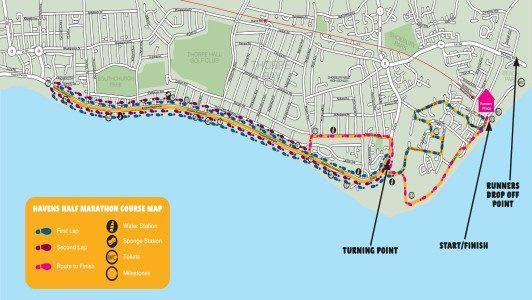 Southend Half Marathon Route Map