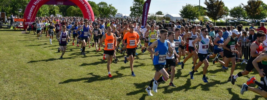 Runners setting off at the start line