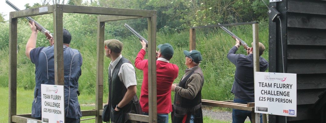 Clay pigeon shoot participants