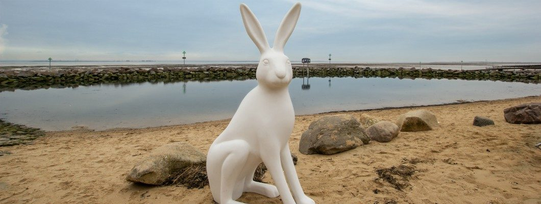 Hare Sculpture on Southend seafront