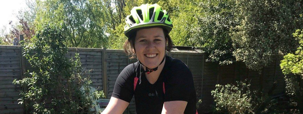 Fundraiser Emma on her bike
