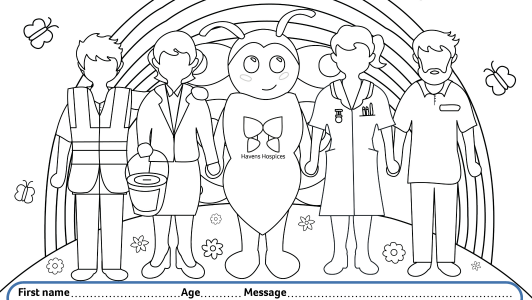 Colouring in template