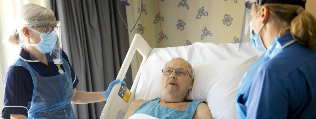 Fair Havens Patient With Two Hospice Nurses in PPE