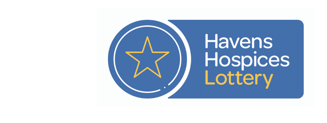 Havens Hospices Lottery Logo with a star next to it