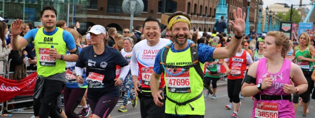 group of runners smiling