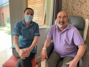 Ray Mailley and Care Team Member Lauren